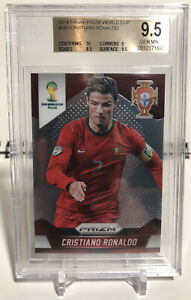 2014 Prizm Cristiano Ronaldo World Cup #161 BGS 9.5 GEM MINT w/ 10 LOW POP