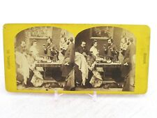 Vintage Stereoview Card 430 New Years Calls George Stacy Photo Viewer On Table