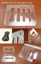 Leathercraft Acrylic No.5M6 Zipper D Ring Pull Tabs Sheet Pattern Template Ruler