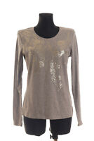 BASLER Women's Grey long sleeved Top T-shirt Size 38