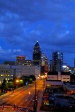 Atlanta Skyline At Night Georgia United States America USA Photograph Picture