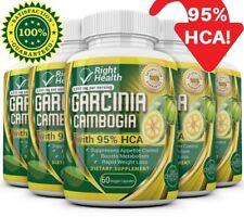 5 Pack GARCINIA CAMBOGIA 95% HCA Diet Pills Weight Loss Fat Burner 3000mg STRONG