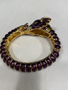 KJL purple bangle Elephant bracelet