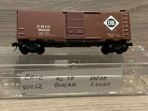 N Scale Kadee Erie #20000 40' Standard Box Car 80012 - MTL Micro Trains