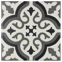 Modern Square Black Grey White Porcelain Mosaic Tile Backsplash Wall MTO0234