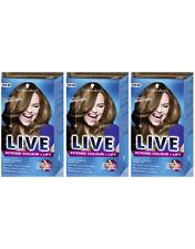 Schwarzkopf LIVE Intense Colour & Lift L54 Luminous Brown Hair Color Dye x 3