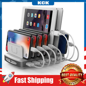 USB C 2 Quick Charging 3.0 Station 7-Port 96W Charger Dock Universal Type C