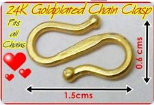 22k 23k 24k Gold Plated Indian Thai Clasps For Necklace Chain