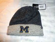 Genuine 47 brand University of Michigan Heavy Knit hat license gray warm NEW