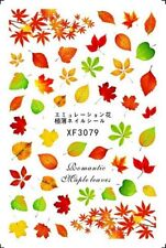 Nail Art 3D Decal Stickers Fall Leaves Autumn XF3079