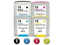 4 Pack HP 18 Compatible Inkjet Cartridges C4936A-C4939A [1BK,1C,1M,1Y]