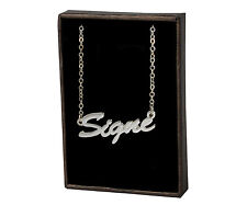 With Name - Bridal Accessories Pendant Signe 18ct White Gold Plating Necklace