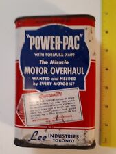 "RARE CANADIAN (TORONTO) ""POWER-PAC MOTOR OVERHAUL"" OIL ADDITIVE - 16 OUNCE TIN"