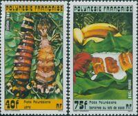 French Polynesia 1988 Sc#474-475,SG524-525 Polynesian Food Dishes set MLH