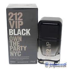 212 VIP BLACK  By Carolina Herrera for Men EDP Spray 1.7/1.6 oz New In Box