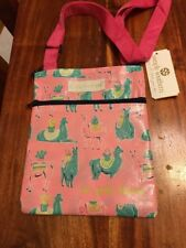 ECO Friendly Simply Southern Llama Reusable Tote Crossbody Bag