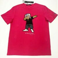 Men Hudson 100% authentic size large Lil Bear Design Dab T-shirt red