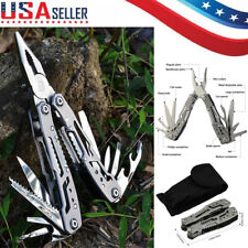 Survival Plier Fold Pocket Screwdriver Multi Tool Outdoor Hiking Camping Knives