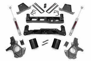 "Rough Country 7.5"" Lift Kit (fits) 07-13 Silverado Sierra 1500 2WD | N3 Shocks"