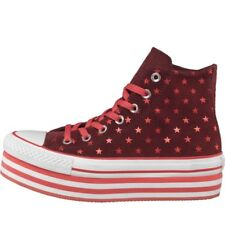 CONVERSE CT ALL STAR HI PLATFORM POLKA DOT TRAINERS - RED/PINK/WHITE – SIZE 3.5