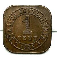 1926  STRAIT SETTLEMENT MALASIA- 1 CENT KING GEORGE V - BRONZE COIN KM#32