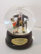 "Snowglobe Norman Rockwell's ""First Love"" April 24,1926 Saturday Evening Post"