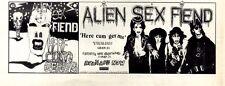"3/10/87pg3 Album Advert 4x10"" Alien Sex Fiend, Here Cums Germs"