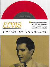 """ELVIS PRESLEY """"Crying in the Chapel""""/""""I Believe in the Man...""""RCA Red-Vinyl w/PS"""