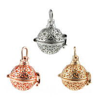 Gold/Silver Plated Hollow Flower Locket Ball Pendant DIY Essential Oil Diffuser