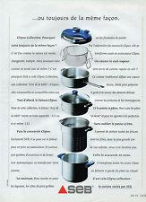 Publicité 1992   SEB clipso collection la cuisine variée
