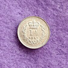 More details for 1843 victoria three half pence colonial use 1 1/2