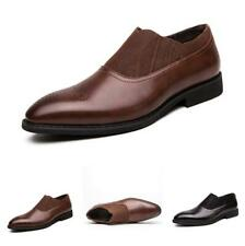 Men British Business Leisure Leather Shoes Pointy Toe Slip on Work Oxfords 38-46