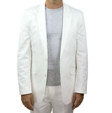 - Marco Carlotti Mens White Suit Jacket 40s - Size 40 Short - Cotton