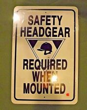 New Safety HeadGear REQ  Barn Sign  from Noble Beast Graphic