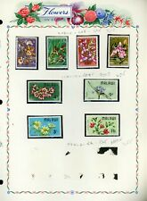 FLOWERS FLORA on White Ace Album Page Lot #27 - SEE SCAN - $$$