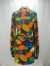 60s 70s Psychedelic Mod Hippie Custom vtg geometric dress Groovy