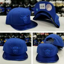 NEW Mitchell Ness NBA Metallic Royal Blue Chicago Bulls Adjustable snapback Hat