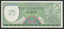 Suriname P-127 25 Gulden 1985 Unc