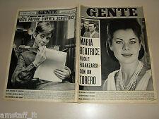 GENTE 1966/47=MARIA GABRIELLA DI SAVOIA=RITA PAVONE=FIRENZE ALLUVIONE=VALERI D.=