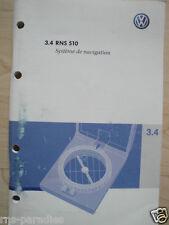 VW RNS 510 NAVI BEDIENUNGSANLEITUNG 3.4 FRANZÖSISCH STAND 01/2008