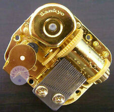 "Play ""Canon in D Major"" Golden Plated Sankyo Musical Movement for DIY Music Box"