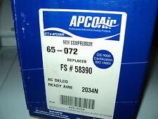 APCO AIR AC COMPRESSOR W/CLUTCH ASSY NEW 65-072 1998 JEEP GRAND CHEROKEE