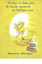 PUBLICITE ADVERTISING  1997   MINIDOU assouplissant lessive parfum Vanille