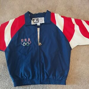 1996 atlanta olympics starter jacket Vtg. With Eagle On Back  Large