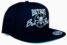 Detroit Bad Boys Black and Silver Pistons NBA Champions Snapback Hat Cap