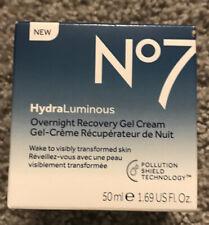 No7 HydraLuminous Overnight Recovery Gel Cream 1.69 Oz / 50Ml