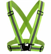 New listing Green Adjustable Safety Security High Visibility Reflective Vest Night Running