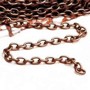 4M 13.12feet Unfinished Chains Necklaces Cable Chain 0.9x3x5mm Antique Copper BW