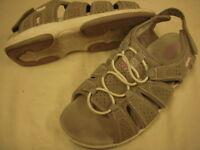 Ryka Fisherman Lightweight Sandals w/Hook & Loop Strap Womens 6 M Medium Grey r