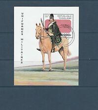 Togo bloc  uniforme militaire     de 1997   num:  315  oblitéré